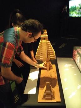 Maquetas 3d de las pirámides Maya