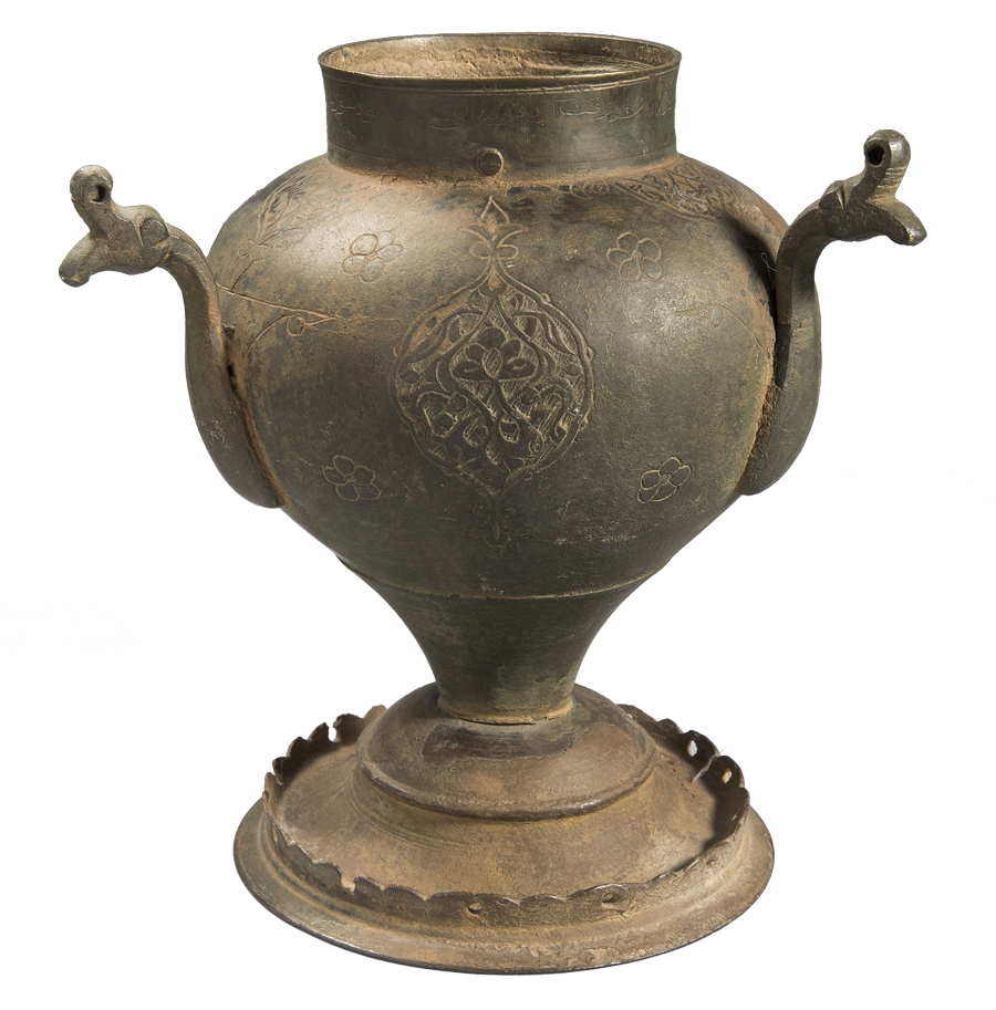 Incensario de bronce del siglo XVI.