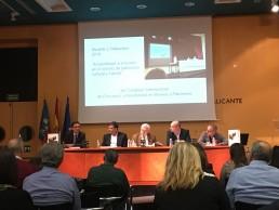 Mesa de la presentación de la publicación de las Actas en el MARQ