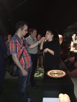 visita en Lengua de signo destacadas de la exposición
