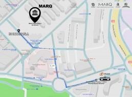 Plano como llegar MARQ